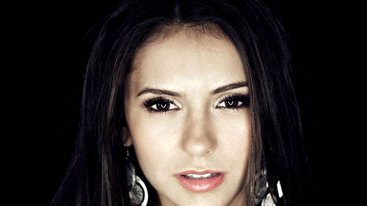 Nina Dobrev Red Lips Looking Front Face Closeup